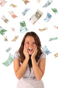 Geldregen als Sinnbild der hedonistischen Adaption