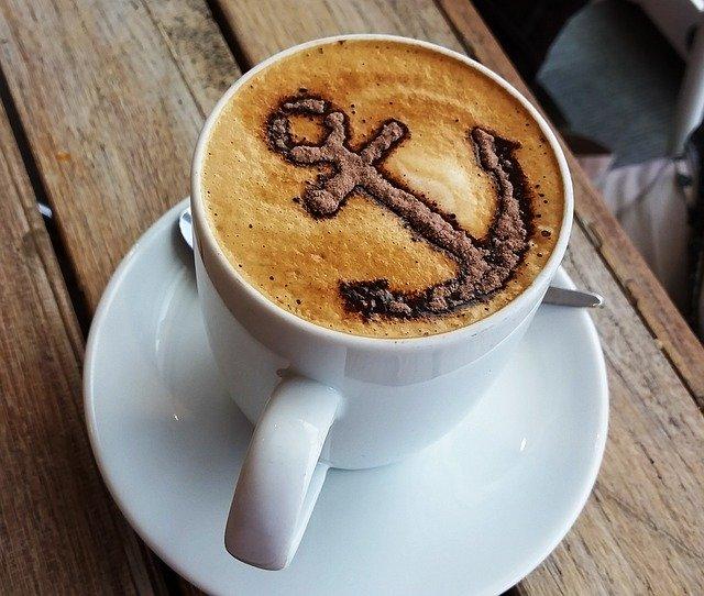 Anker setzen - Cappuccino mit Anker