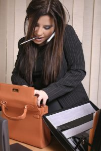 Von ich muss zu ich will - gehetzte Businessfrau