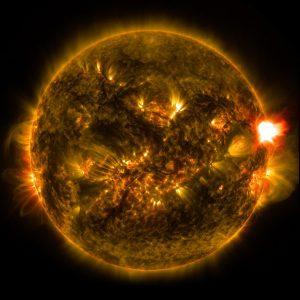 K+ Magnet Sonne mit Sonnenflecken