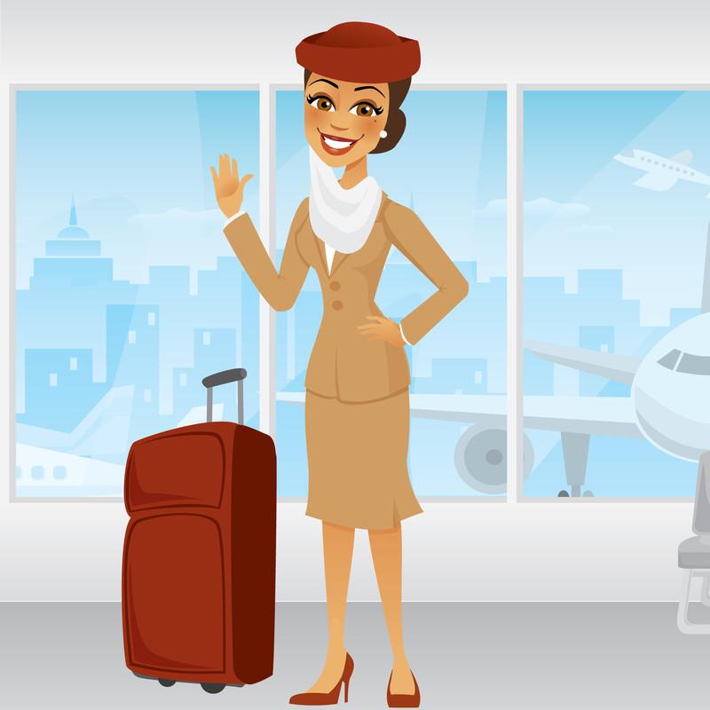 Stewardess winkt - Wer weiß