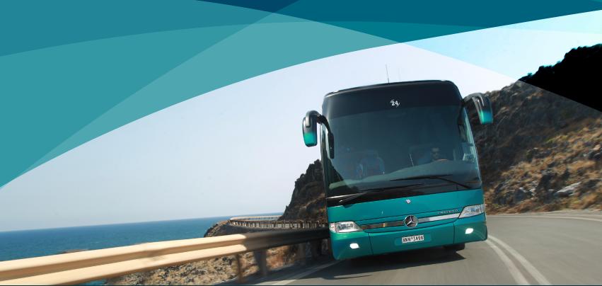 Kreta Bus - Präsenz auf dem Weg zum Flughafen