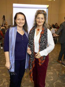 Ingrid Huttary und Jenison Thomkins auf dem DVNLP Kongress in Hamburg