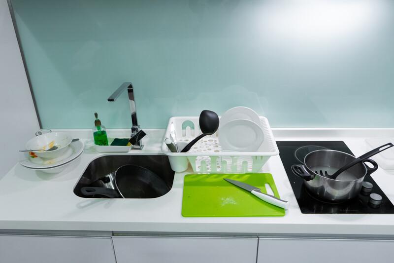 Küche-unordentlich-VW-Regel