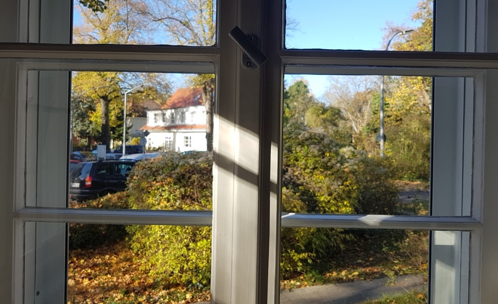 Schüttelmeditation - Der Blick aus dem Fenster meines Arbeitszimmers jetzt im Herbst